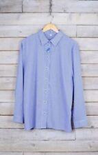 Maglie e camicie da donna blu a fantasia righe in misto cotone