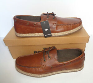 Mens Tan Leather Shoes Real New Boat Deck Casual Lace Up RRP £50 UK Sizes 7-12