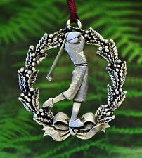 Golfer Christmas Decoration | Golfing Ornaments | Gifts for Golfers | Fine Pewte