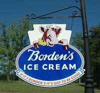"BORDEN'S AMAZING ELSIE THE COW 24"" ICE CREAM DAIRY FARM KITCHEN SIGN USA MADE!"