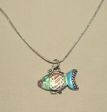 NEW !  FUN !  Colorful custom BRIGHTON 'Sea Love' FISH necklace FREE SHIPPING !!