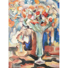 Gestel Still Life Flowers Glass Vase Painting Canvas Art Print Poster