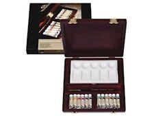 Coffret bois 12 tubes Aquarelle extrafine Rembrandt Pinceau Martre Rouge N° 4