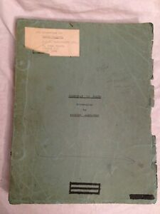 Patrick Alexander - Nightboat to Paris - Screenplay Typescript - Richard Jessup