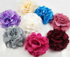 New Style Warm Blooming Flowers Brooch Hair Pins Clips Shoes Accessory Silk Lace