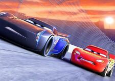 Cars 3 A4 260gsm poster stampa Saetta McQueen film NUOVO 2017