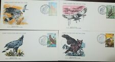 L) 1978 GAMBIA, NATURE, BIRDS, HAWK, OWL, NATURE, FAUNA, ANIMALS,  SET OF 4, WOR