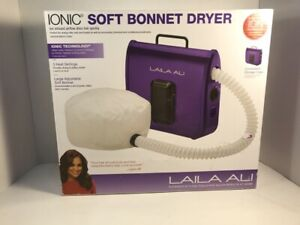 Laila Ali Ionic Soft Bonnet Hair Dryer Portable Rollers Braids Purple