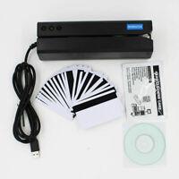 MSR605X USB magnetic card reader writer inside adaptor windows Mac MSR206