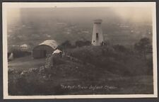 Postcard Cheddar Somerset view of The Mystic Tower Joyland early Mendip Hills RP