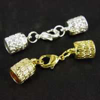 Kumihimo Thread End TIP Caps & Lobster Clip Gold Silver Rose Black 2/5/10 K332