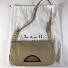 Rare Vtg Christian Dior by John Galliano Beige Nylon Bag