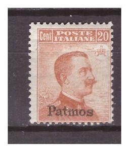 s15825) PATMOS 1917 MXLH* Nuovo Linguellato*  Def.  1v. Sass. 9