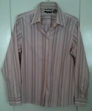 Eddie Bauer Pink Striped Long Sleeve Tailored Shirt Size L