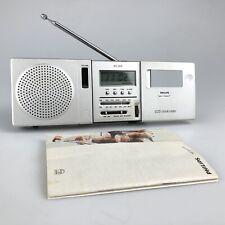 Vintage PHILIPS Radio Receiver  - LCD Clock Radio AS 304 - RARE w/ Instructions