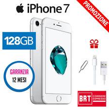 GRADO A++ APPLE IPHONE 7 128GB SILVER ARGENTO USATO RICONDIZIONATO
