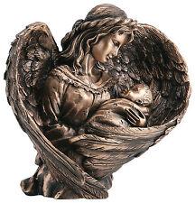 Mutter mit Kind/Schutzengel/Bronze/Grablampe/Kind Jesu