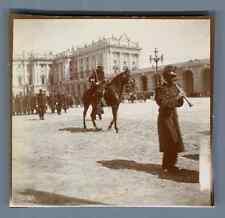 España, Madrid, Un Desfile Militar  Vintage citrate print. Vintage Spain.Vinta