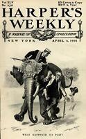 Thomas Platt Republican anti-corruption Governor Benjamin Odell 1901 old print