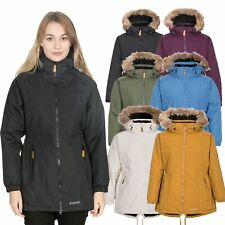 Trespass Womens Parka Jacket Waterproof Hooded Coat & Fleece Lining