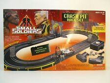 Vintage 1998 Kenner Small Soldiers Crash Pit Race Track Slot Cars - Nice