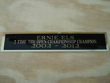 Ernie Els The Open 2X Champion Nameplate For A Golf Ball Display Case 1.5 X 8