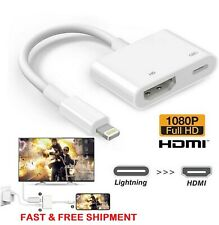 New Lightning to Digital AV TV HDMI Cable Adapter For Ipad air iphone 6 6S 7 8 X