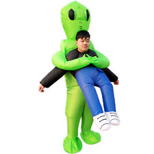 Adults Inflatable Green Alien Costume Halloween Cosplay Party Gifts Fancy Dress