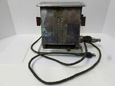 Vintage 2 Slice Dominion Chrome Butterfly Style Electric Toaster #364 Works
