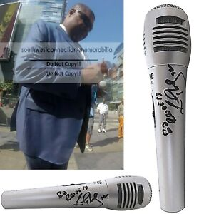 Lincoln Kennedy Las Vegas Raiders Signed Microphone Football Proof Autograph COA