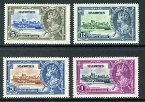 British 1935 KGV Silver Jubilee Mauritius Scott #204-207 Mint Non Hinged Y307