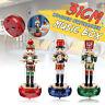 32CM  Wooden Nutcracker Drummer Walnut Soldier Doll Music Box Xmas  Decor Gift