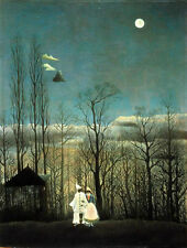 Oil painting Henri Rousseau Carnival Evening landscape at night Hand painted