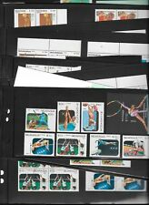 100 Postage Stamps, inc. on FDC's,  from Nicaragua featuring Sports - MNH & CTO