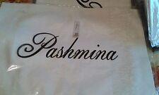 Ladies Ivory Pashmina Wrap Shawl Cape Scarf reversible