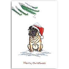 Pug Dog Lovers Pack Christmas Cards Premium quality 10 cards