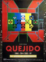 CARTEL EXPOSICIÓN DE - QUEJIDO 1964-79 1991-97 - 33 AÑOS EN RESISTENCIA IVAM.TAM