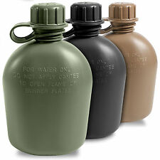 2d8f5a7324 US Army GI Military Cadet Camping Hiking Plastic Drinks Water Bottle Canteen  NEW