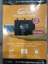 "NCR GoPix Mini Digital Photo Album Kit 3"" X 4 "" High Gloss Photo Paper Inkjet"