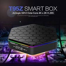 T95Z Plus Android 6.0 NOUGAT S912 Octa Core TV Box Bluetooth 4.0 Dual Band Wi-Fi