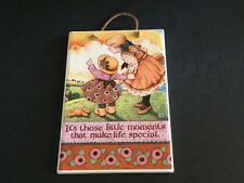 """Mary Engelbreit Ceramic Wall Plaque """"It's Those Little Moments� 6� x 9�"""
