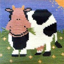 Elizabeth Bradley EASY STITCH tapestry Kit ~ Munchy Moo Cow!