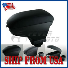 US Black Leather Center Console Armrest Storage For Nissan Versa Tiida 07-15 FM