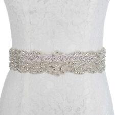 Exquiste Beaded Wedding Dress Sash Belt Bridal Belt Sash w/ Rhinestone Sash Belt
