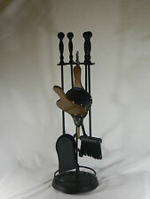 "Fire Place Tool Set/5 Pieces/Wrought Iron/31"" Tall"