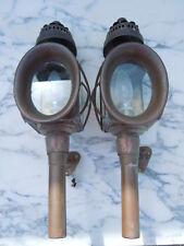 Lanternes fiacre carosse voiture cuivre verre biseauté d'époque 19ème