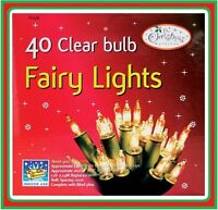 40 SHADELESS CLEAR FAIRY LIGHTS CHRISTMAS XMAS BIRTHDAY PARTY INDOOR TREE 75700
