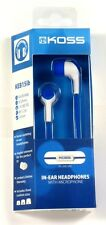 187220  KOSS KEB15i In-Ear Headphones (Blue) with inline Mic for smartphone