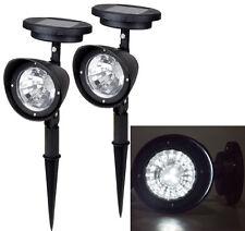2~ 4-LED Solar Garden Lamp Spot Light Outdoor Lawn Landscape Spotlight Lighting
