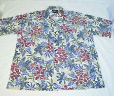 VTG Nautica Hawaiian Tropical Ferns Foliage Aloha Shirt Multicolor Mens XL 1990s